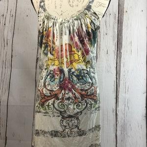 Elan Dresses - Elan Bohemian Tattoo Summer Dress Large
